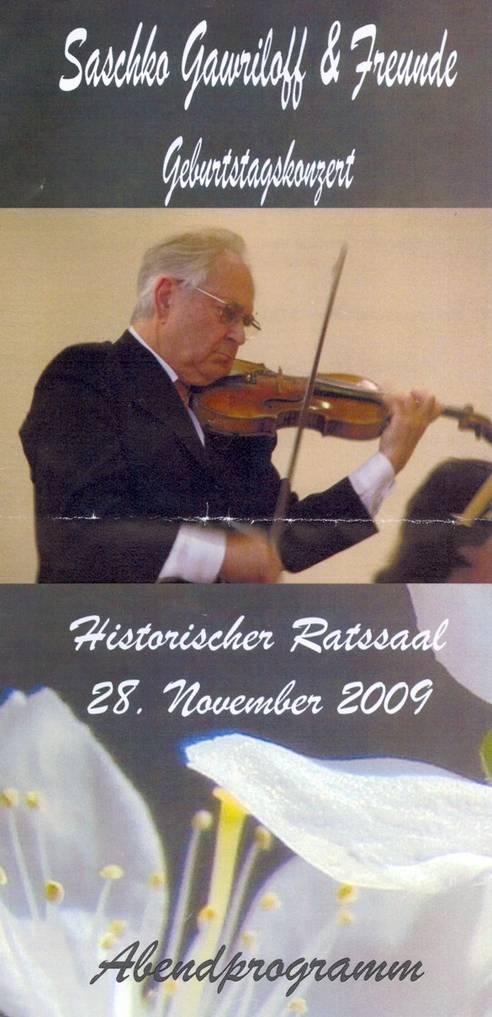 Saschko GAWRILOFF, concert des ses 80 ans, cliquer sur la photo pour voir l'original et ses références